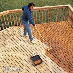 DIY:  How to Revive a Wood Deck - easy project that will protect what you have & make it look great, too - via Family Handyman