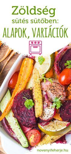 Mi a titka az igazi jó sült zöldségnek? Összefoglaltuk, hogyan érdemes a különböző zöldségeket sütőben sütni. Izgalmas egytálétel, vagy köret is lehet. #novenyifeherje #vegan #vegafood #zoldsegek #veggies #sultzoldseg #konyhaialapok #finomkoret #egytaletel #egyszeruetel #hogysuss #sutobensult #fitfood #csakzoldseg Healthy Foods, Healthy Recipes, Okra, Pot Roast, Ale, Protein, Meat, Cooking, Ethnic Recipes