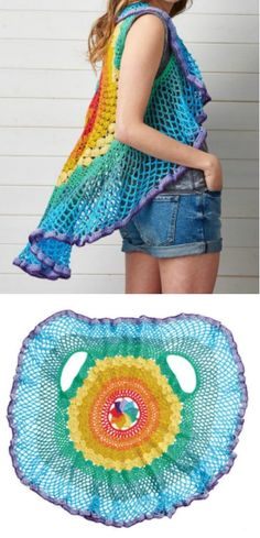Everyone's going mad for this Rainbow Mandala Vest Pattern and you will too. This has been a viral sensation and you can easily see why.