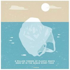8 million tonnes of plastic ends up in the ocean every year [Steffen Kraft illustration] Save Planet Earth, Save Our Earth, Save The Planet, Environmental Posters, Environmental Issues, Ocean Pollution, Plastic Pollution, Wall E, Save Our Oceans