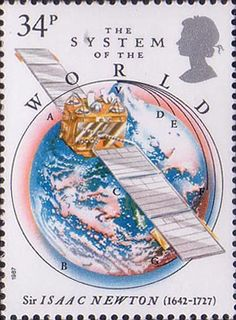 300th Anniversary of The Principia Mathematica by Sir Isaac Newton 34p Stamp (1987) The System of the World
