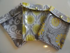 Ouch Pouch 3 Pack  Clear First Aid Travel by PillowSewCute on Etsy, $16.00