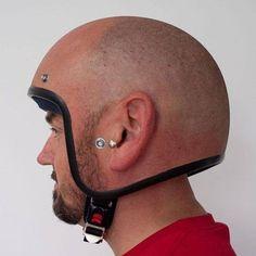 The modern man of today wears: a balding helmet - Funny Stuff - Motorrad