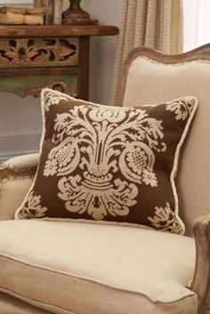 Damask Aubusson Pillow from Soft Surroundings