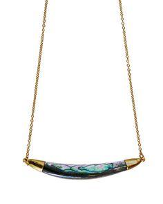 ABALONE curve necklace