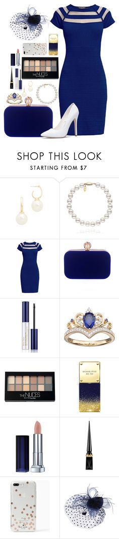 """Princess For A Day No.3"" by ann-13 on Polyvore featuring moda, Kenneth Jay Lane, Rumour London, WithChic, Estée Lauder, Maybelline, Michael Kors, Christian Louboutin y Kate Spade"