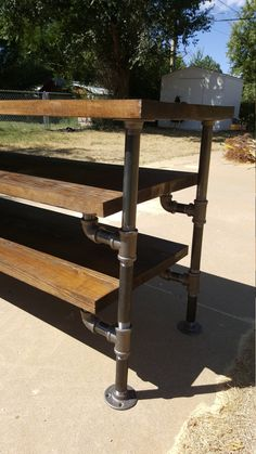 Items similar to Beautifully Handcrafted Industrial Pipe Entertainment Stand, Ancon Edition Jr. Industrial Design Furniture, Pipe Furniture, Furniture Projects, Custom Furniture, Home Projects, Furniture Vintage, Furniture Stores, Office Furniture, Furniture Design