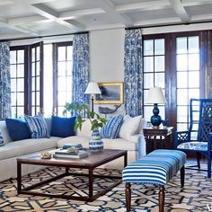 Daydreaming so much today I don't know whether I'm in Nantucket or Atlanta. Can't get enough of #blueandwhite and this compound designed by @suzannekasler. Whether she's in Kenya, Maine, Atlanta or wherever...she gets it right every single time. #classic #stylemaker
