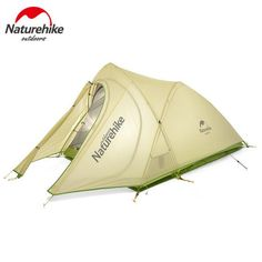 Naturehike 2 Person Camping Tent 20D Silicone Fabric Double Layers Rainproof NH Outdoor Ultralight Camping Hiking Tent