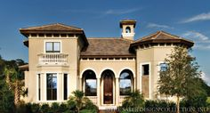 """Sater Design Collection's """"Bergantino"""" home plan from our European Home Plan Book."""