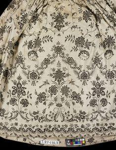 Petticoat (image 2) | India; Coromandel Coast | 1750-1775 | cotton, linen | Victoria & Albert Royal Museum | Museum #: T.87-1923