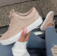 old school low vans suede sneakers tan nude beige Ballerinat efb3253181