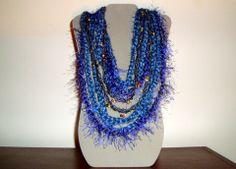 Fiber Art Blue Wendy Scarflette for Women by LuDesignsCreations, $22.00