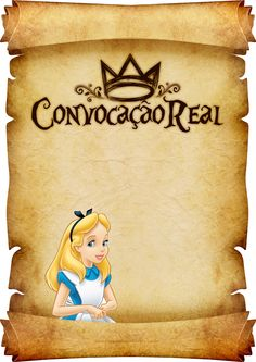 Uau! Veja o que temos para Convite Pergaminho Alice no Pais das Maravilha 3 Alice In Wonderland Tea Party Birthday, Alice In Wonderland Theme, First Birthday Party Themes, Birthday Party Decorations, Bear Valentines, Printable Recipe Cards, Princess Cartoon, Flower Embroidery Designs, Cute Disney Wallpaper