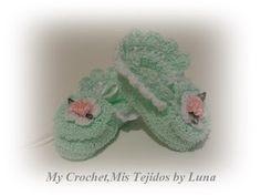 My Crochet , Mis Tejidos: Baby Booties , Zapatitos para Bebe