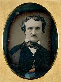 Unknown daguerreotype of Edgar Allan Poe, 1849...one of my favorite authors. #writing #authors #horror