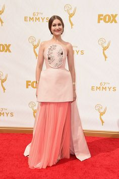 Emmy Awards 2015 |Joanna Newsom in a Delpozo dress and Irene Neuwirth