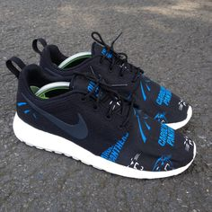 Custom Nike Roshe One Carolina Panthers by customsxcario on Etsy