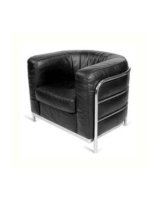 Black Rounded  Armchair