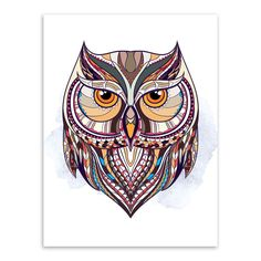 Modern Ancient African National Totem Animals Owl Head Framed Canvas Painting Wall Art Prints Picture Poster Home Decoration Wall Art Pictures, Canvas Pictures, Print Pictures, Frames For Canvas Paintings, Canvas Frame, Painting Canvas, Canvas Art, Owl Mosaic, Framed Art Prints