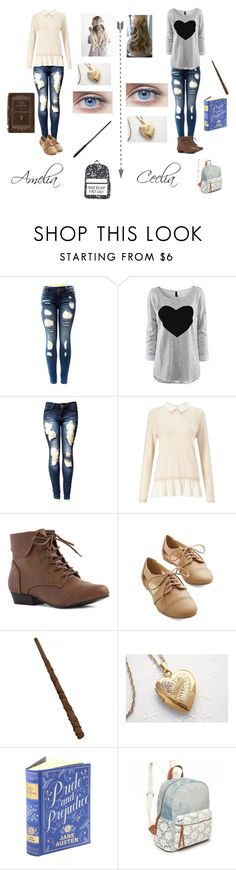 """""""The Potter triplets, Chapter 1"""" by meghan-white2 on Polyvore featuring Miss Selfridge and Red Camel"""