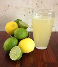 Paleo Electrolyte Lemon-Limeade Drink | Our Paleo Life, 1/2 cup lemon juice, 1/2 cup lime juice, 1/4 tsp sea salt, 6 cups water, 6 Tablespoon  honey.