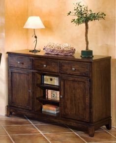 """Home Gallery Furniture for Console/Sofa Tables, Kona 50"""" Wine Server"""
