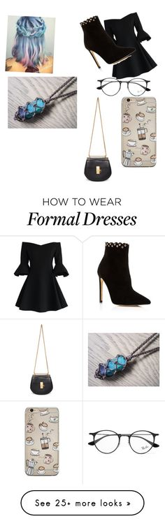 """""""Lika's Formal"""" by weirdo2006 on Polyvore featuring Chicwish, Raye, Ray-Ban and Chloé"""