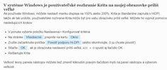 krita - postup zmenšenia používatelského rozhrania Google