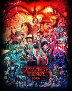 Millie Bobby Brown and Stranger Things Cast - buddha decor Stranger Things Netflix, Stranger Things Season 3, Stranger Things Funny, Eleven Stranger Things, Wallpaper Harry Potter, Stranger Danger, Stranger Things Aesthetic, Cute Wallpapers, Vintage Posters