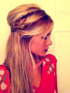 Bohemian Hair ~ GAH if my hair was long!