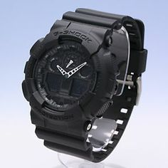 G-Shock Military Watches | Shock-G-Shock-Ops-Limited-Edition-Black-GA-100-1A1-Military-Watch ...