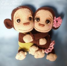Naimba And Namboro, The Baby Monkeys Amigurumi Pattern