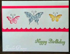 Butterfly Punch Birthday Card
