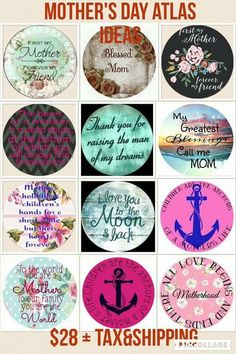 Mother's Day is right around the corner, get your orders in asap. You can personalize the Atlas however you want. Send me a picture and I can show you what it will look like, also let me know what you want it to say on the tag.