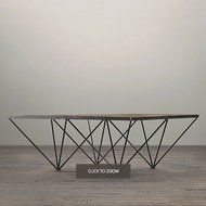 Restoration Hardware Wood and Iron Coffee Table