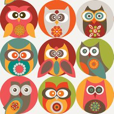 Owls Family- for iPod