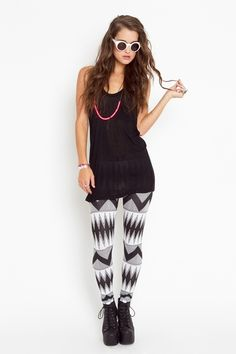 Tribal Stripe Leggings