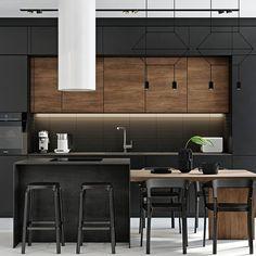 Modern Home Interior Design to Your Kitchen Design Industrial Kitchen Design, Kitchen Room Design, Modern Kitchen Design, Dining Room Design, Home Decor Kitchen, Kitchen Interior, Home Kitchens, Modern Home Interior Design, Cuisines Design