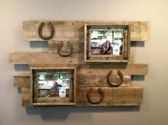 Horseshoe pallet picture frame