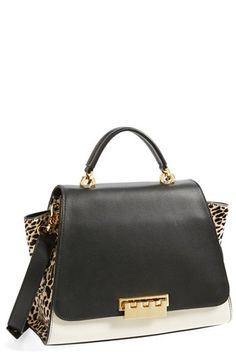 ZAC Zac Posen 'Eartha'  Leather & Calf Hair Top Handle Satchel available at #Nordstrom