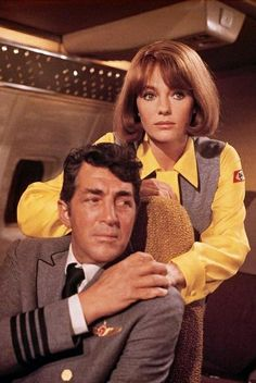 AIRPORT( 1970) Dean Martin plays an airline pilot in this grandaddy of disaster movies to come. This glossy soap opera has many characters in the air aboard the airplane but in the airport as well. Among the all cast is Burt Lancaster, Jacqueline Bissett, and Helen Hayes who won a oscar in this Cinema trash Classic.