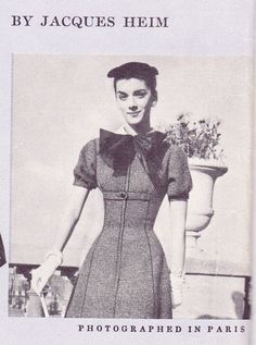 Vogue Paris Original 1325 by Jacques Heim | 1956 one-piece dress