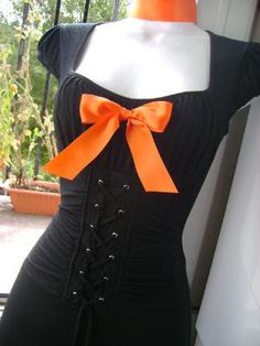I found 'sexy WITCH costume HALLOWEEN orange N black big bow by sparkleyes' on Wish, check it out!