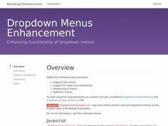 Плагин создаёт выпадающие списки для Bootstrap 3 элементов, radio, checkbox и меню, прост в использовании на сайте.