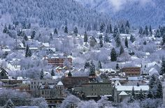 This winter, cozy up to one of these gorgeous mountain towns. Maximize your next vacation when you take your Ford Focus to one of these scenic spots. Canadian Winter, Canadian Rockies, Best Places To Travel, Places To See, West Coast Canada, Vancouver City, O Canada, Winter Scenes, British Columbia