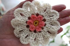 Pretty crocheted flower