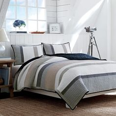 Shop for Nautica Tideway Cotton Reversible Quilt. Get free shipping at Overstock.com - Your Online Fashion Bedding Outlet Store! Get 5% in rewards with Club O!