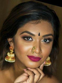 Indian Long Hair Braid, Braids For Long Hair, Nose Jewels, Nose Stud, Most Beautiful Indian Actress, Bindi, Kissing, Indian Actresses, Natural Beauty
