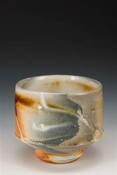 "Stephen Mickey Yunomi- ""New Moon"" Porcelain, Soulgama wood kiln, 5 day firing, cone 15..."